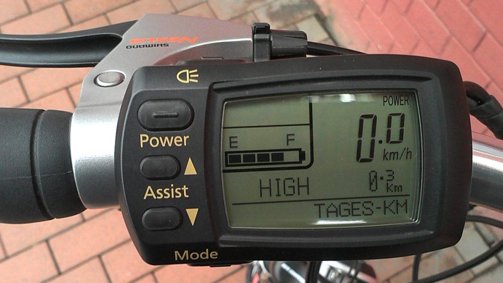 E-Bike Tacho Anzeige
