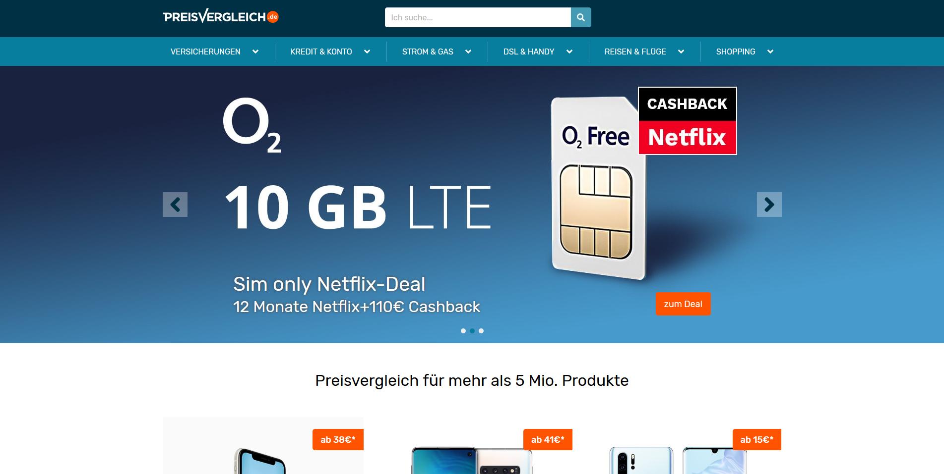 Preisvergleich.de Screenshot