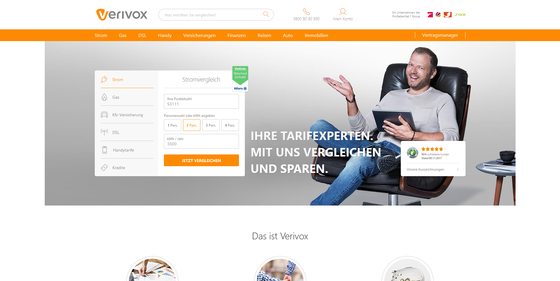 Screenshot Verivox